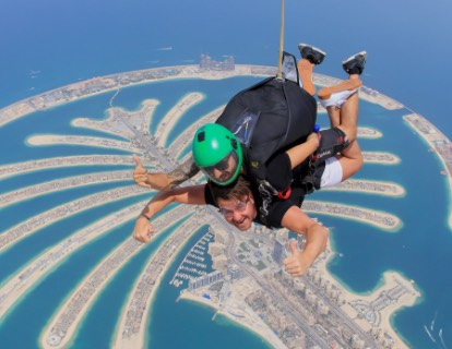 Скайдайвинг дубай skydive dubai дубай небоскрёбы фото